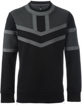 Neil Barrett colour block sweatshirt - men - Cotton/Spandex/Elastane/Lyocell/Viscose - S