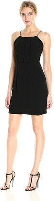 Kensie Women's Texture Crepe Dress with Open Lace Back