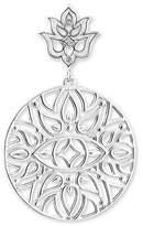 "Thomas Sabo Lotus Flower Ornamentation"" White Diamond Stud Earrings D_H0008-725-21"