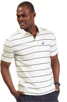 Nautica Men's Striped Performance Deck Pique Polo