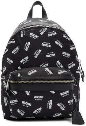 Moschino Black Logo Backpack