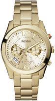 Fossil Women's Perfect Boyfriend Gold-Tone Stainless Steel Bracelet Watch 40mm ES3884