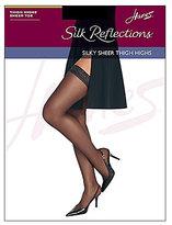 Hanes Silky Sheer Sandalfoot Thigh Highs