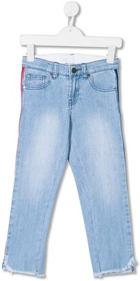 Stella Mccartney Kids Rainbow Trim Jeans