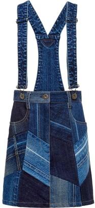 Prada Patchwork Overall Skirt