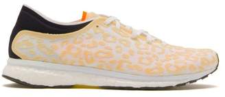 adidas by Stella McCartney Adizero Adios Leopard-bonded Mesh Trainers - Womens - Pink White