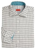 Isaia Regular-Fit Gingham Dress Shirt