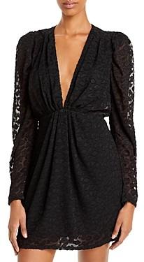 Aqua Leopard Burnout Mini Dress - 100% Exclusive