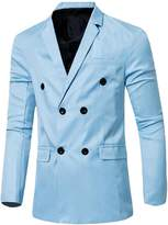 CFD Men's Casual Double-Breasted Suit Coat Jacket L