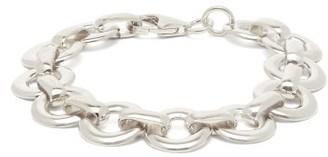 Alta Ora - Circle-drop Sterling Silver Chain Bracelet - Womens - Silver