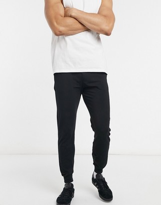 Diesel core waistband logo sweatpants in black