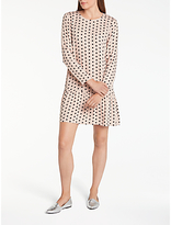 Minimum Africa Polka Dot Dress, Mushroom
