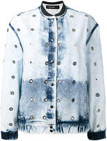 Filles a papa bleached effect bomber jacket
