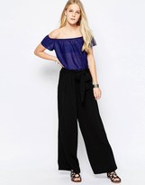Only Alex Wide Leg Pants With Belt