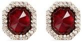 Monique Péan Garnet diamond 18k recycled white gold stud earrings