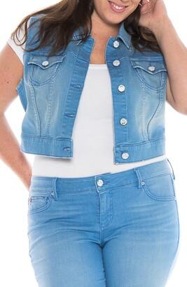 SLINK Jeans Crop Denim Vest