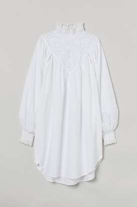 H&M Embroidered-detail Tunic - White
