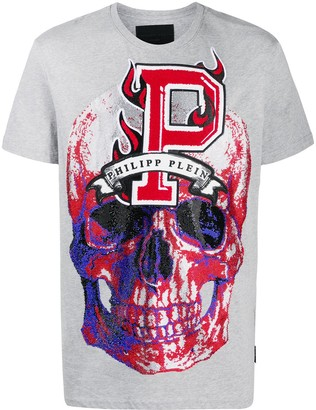 Philipp Plein Flame crew neck T-Shirt