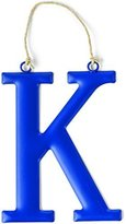Mud Pie Tin Initial Wall Hanging for Boy, K, Large by