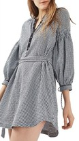 Topshop Women's Gingham Smock Dress