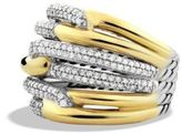David Yurman Labyrinth Triple-Loop Ring With Diamonds And Gold