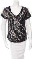 Raquel Allegra Printed Short Sleeve Top w/ Tags