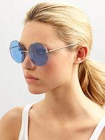 Elizabeth and James Oversized Round Interchangeable Rimless Sunglasses