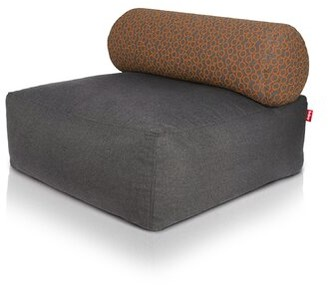 Fatboy Tsjonge Jong Chaise Lounge Fabric: Dark Gray / Circles Orange