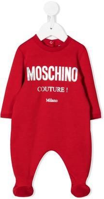 MOSCHINO BAMBINO Logo-Print Crew Neck Pajama