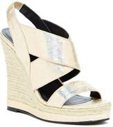 Michael Antonio Gerey Metallic Wedge Sandal