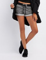 Charlotte Russe Marled Terry Drawstring Shorts