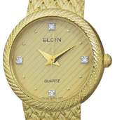 Elgin DSI11 Stainless Steel and Gold Plated Quartz Vintage 22mm Womens Watch