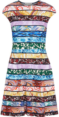 Mary Katrantzou Pinto Printed Stretch-jersey Mini Dress