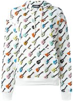 Jeremy Scott guitar print hoodie