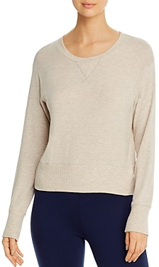 Three Dots Brushed Long-Sleeve Heathered Top