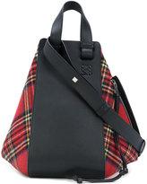 Loewe Hammock tartan bag - women - Calf Leather/Wool - One Size