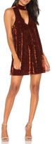 Show Me Your Mumu Velvet Choker Dress