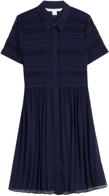 Diane von Furstenberg Pleated Shirt Dress