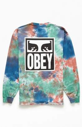 Obey Tie-Dyed Eyes Icon Long Sleeve T-Shirt