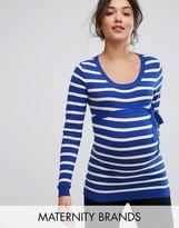 Mama Licious Mama.licious Mamalicious Stripe Long Sleeve Top
