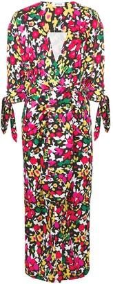 ATTICO The floral midi dress