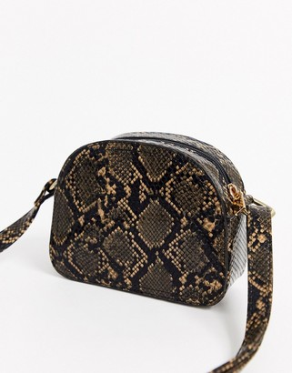 French Connection snake print cross body bag