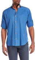 Bogosse Peter Denim Blue Sport Shirt