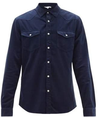Frame Double-pocket Cotton-corduroy Shirt - Mens - Blue