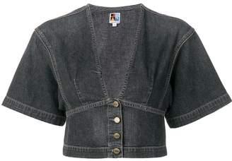 Atelier Jean kimono cropped denim blouse