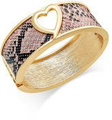 Thalia Sodi Heart Hinged Bangle Bracelet, Only at Macy's