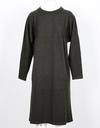 Lamberto Losani Green Pure Cashmere Women's Dress