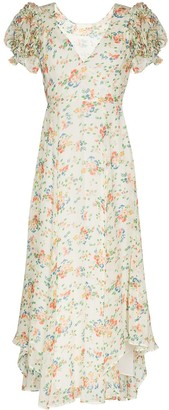 LoveShackFancy Clemence floral-print maxi dress