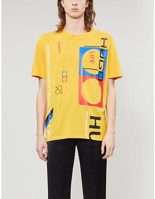 HUGO Graphic print cotton-jersey T-shirt