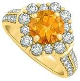 LoveBrightJewelry Beautiful jewelry Gift Citrine and CZ Ring 2.00 TGW